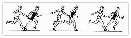 Эстафетный бег в картинках