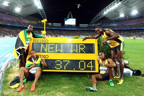 4х100м - Ямайка - 37.04