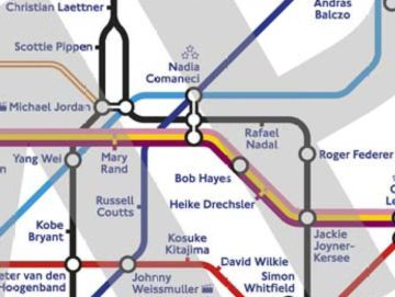 «Олимпийские легенды»-карта столичного метро в Лондоне