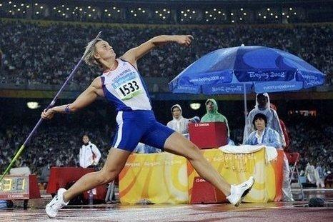 Барбара Шпотакова - победительница Олимпийских игр 2012 в метании копья