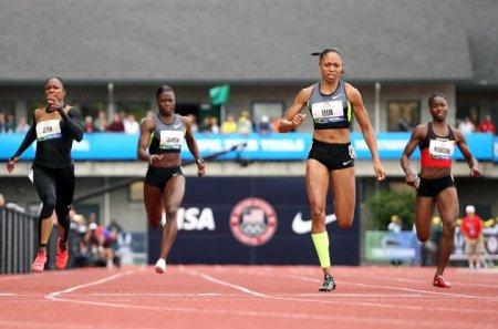Эллисон Феликс 200м за 21.69 - Олимпийский отбор-2012 в США +Фото