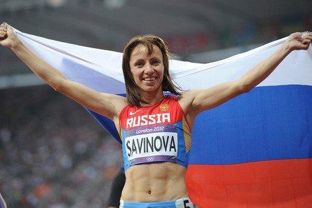 Мария Савинова - победительница двенадцатого этапа «Бриллиантовой лиги 2012» в беге на 800м