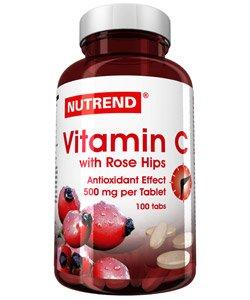 Vitamin C with rose hips - NUTREND - Витамины и минералы