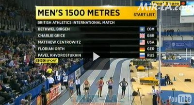 Bethwel BIRGEN KEN 3:38.37 British Athletics Glasgow International Match 2013