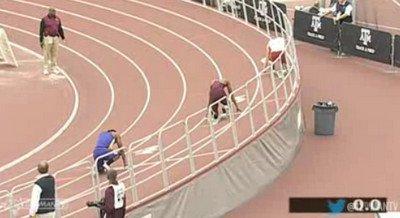 Deon Lendore 45.91 W.L.& Meet Record 400m Texas A&M Triangular Indoor meet 2013