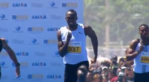 Usain Bolt 14.41 - 150m Copacabana Rio de Janeiro HD-видео