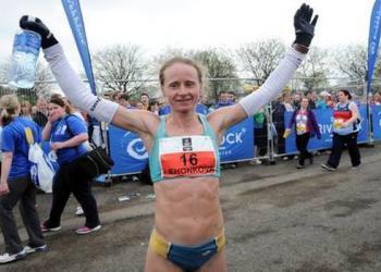 Украинка Наталья Легонькова покоряет марафон в Белфасте
