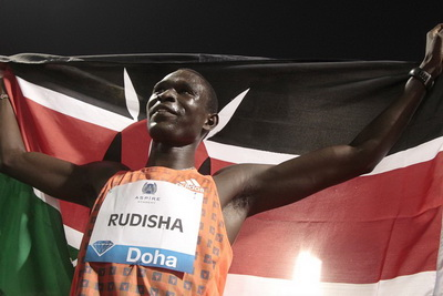 David Rudisha 1:43.87 800m Diamond League 2013 Doha