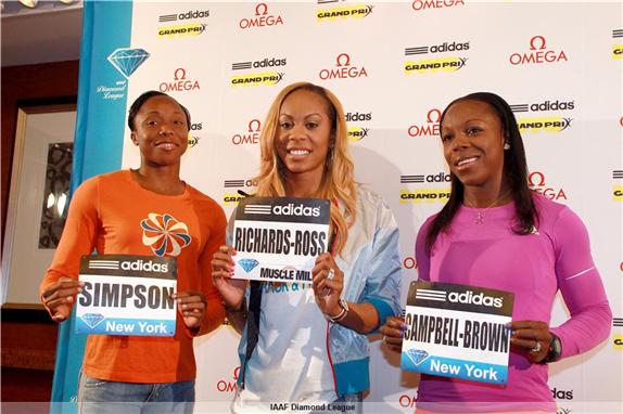 Бриллиантовая лига 2013, Нью-Йорк - Результаты