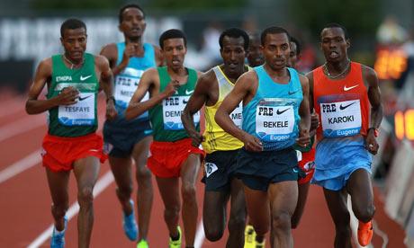 Kenenisa Bekele 10 000m Diamond League in Eugene 2013
