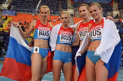 Чемпионат мира 2013 - 4х400 м - Женщины + Видео