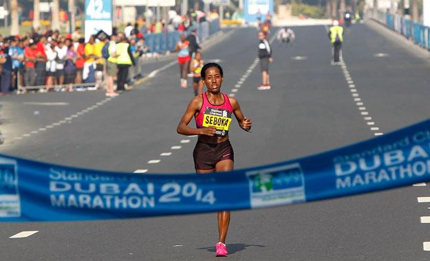 Эфиопы  заняли весь пьедестал на марафоне в Дубае
