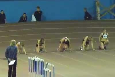 60м финал Б женщины - Командный чемпионат Украины 2014 - Запорожье