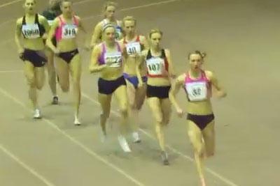 1500м финал 1 забег женщины - Командный чемпионат Украины 2014 - Запорожье