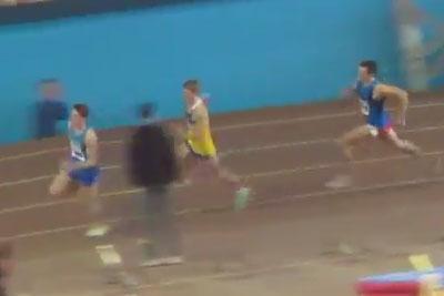 800м финал 3 забег мужчины - Командный чемпионат Украины 2014 - Запорожье