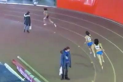 400м финал В женщины - Командный чемпионат Украины 2014 - Запорожье