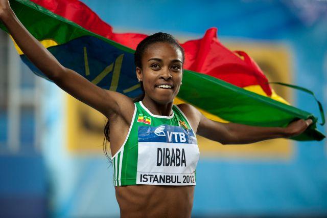 Genzebe Dibaba 3:55.17 1500m World Indoor Record