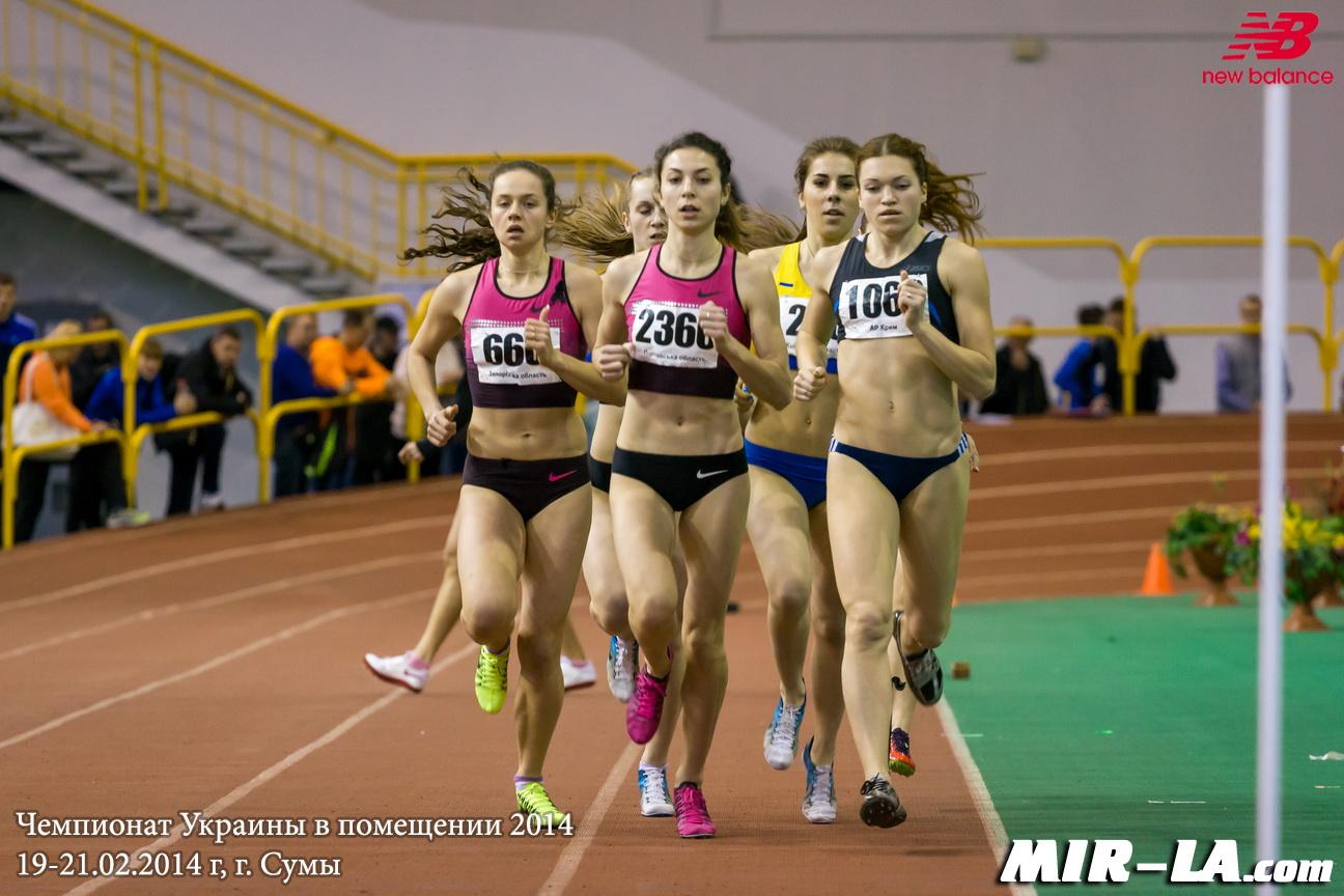 800 м Женщины - Чемпионат Украины в помещении 2014 - Сумы