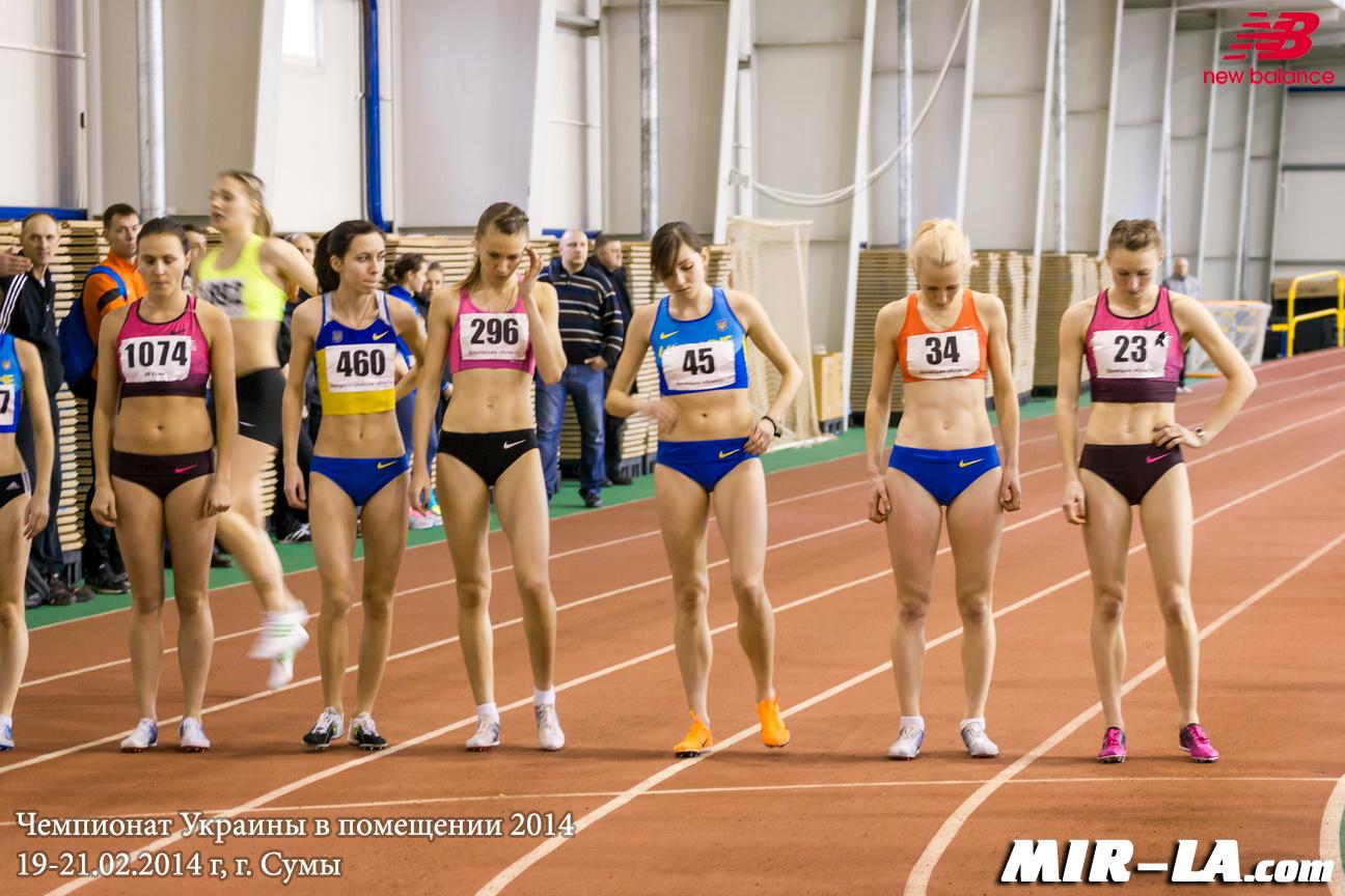1500 м Женщины - Чемпионат Украины в помещении 2014 - Сумы
