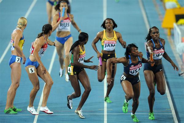 4х400 м - Женщины - 1 круг - Чемпионат мира 2014 - Сопот + Видео