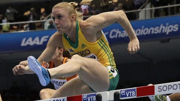 60 м с / б - Женщины - Полуфинал - Чемпионат мира 2014 - Сопот