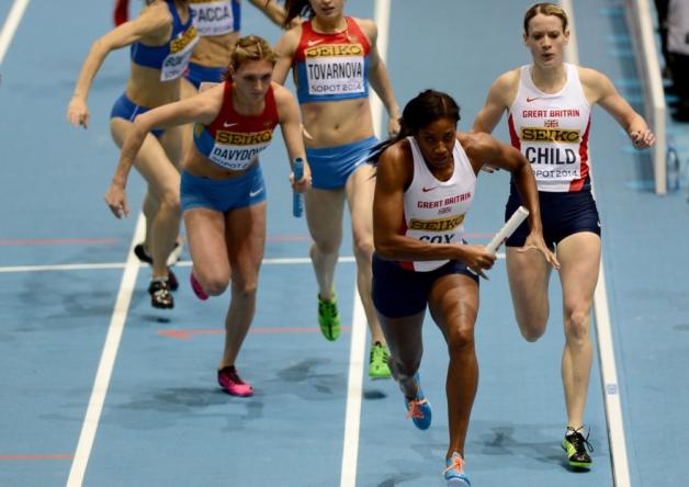 4х400 м - Женщины - Финал - Чемпионат мира 2014 - Сопот + Видео