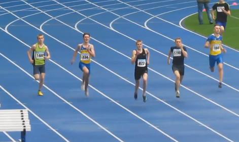 400м - Финал Б - Юноши - Чемпионат Украины среди юношей 2014