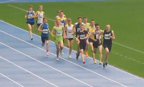 1500м - Финал А - Юноши - Чемпионат Украины среди юношей 2014