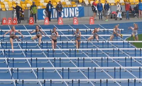 100м с/б - Финал - Девушки - Чемпионат Украины среди юношей 2014