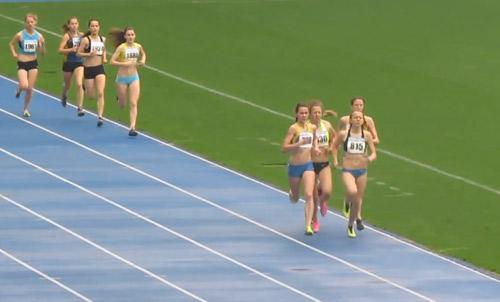 1500м - Финал - Девушки - Чемпионат Украины среди юношей 2014