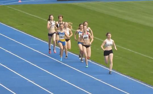 800м - Финал Б - Девушки - Чемпионат Украины среди юношей 2014