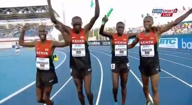 Сборная Кении победили в беге 4х800м на Чемпионате мира по эстафетам +Видео
