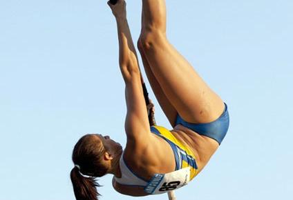 Командный чемпионат Украины. Женские соревнования с шестом выиграла дончанка Екатерина Козлова