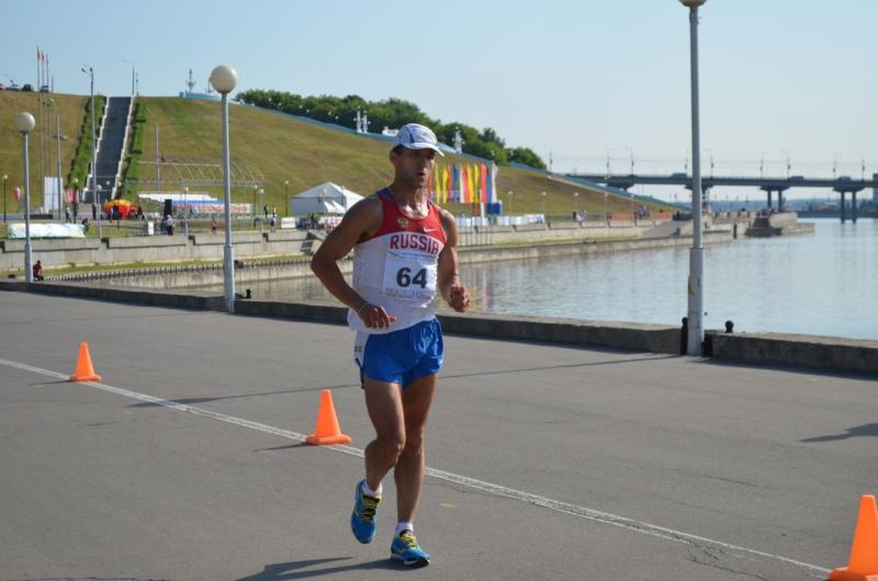 Александр Яргунькин одержал победу в ходьбе на 50 км на ЧР в Чебоксарах