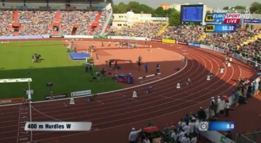 Women's 400m Hurdles IAAF World Challenge Ostrava 2014