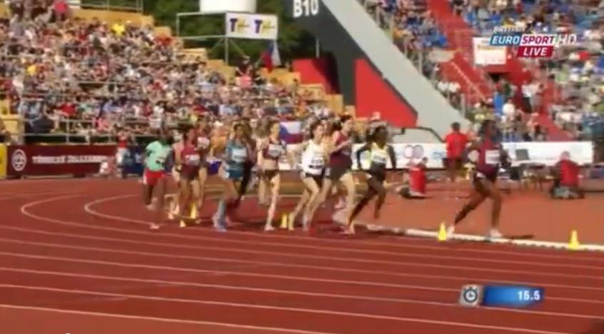 Women's 3000m Steeplechase IAAF World Challenge Ostrava 2014
