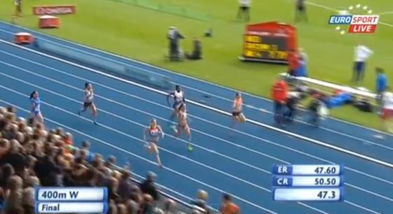 Алена Тамкова и Ольга Земляк призеры командного чемпионата Европы в беге на 400 м +Видео