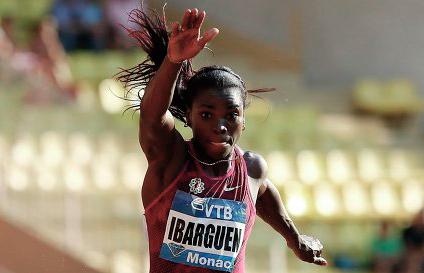 Блистательная победа Катрин Ибаргуэн в тройном прыжке в Монако. Видео
