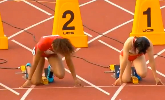 Women's 100m Heat 7 IAAF World Junior Championship 2014