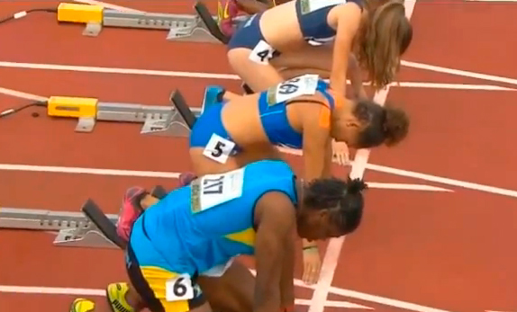 Women's 100m Heat 5 IAAF World Junior Championship 2014