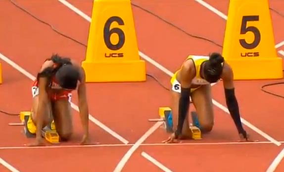 Women's 100m Heat 3 IAAF World Junior Championship 2014