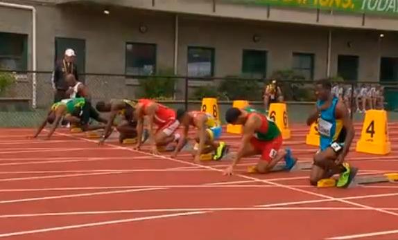Men's 100m Heat 3 IAAF World Junior Championship 2014