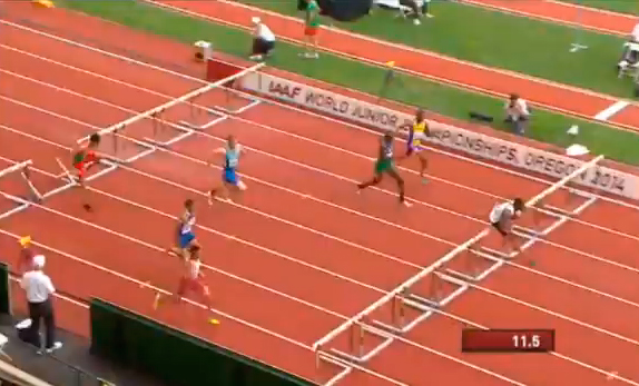 Men's 110m Hurdles Heat 4 IAAF World Junior Championship 2014