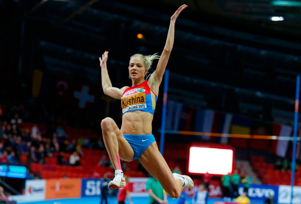 Дарья Клишина стала чемпионкой в прыжках в длину на чемпионате России