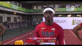 100m Final Men: Euegene World Junior Championships