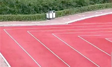 В Китае построили стадион с прямоугольными беговыми дорожками