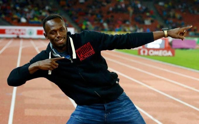 Усэйн Болт присутствует на чемпионате Европы по легкой атлетике в Цюрихе