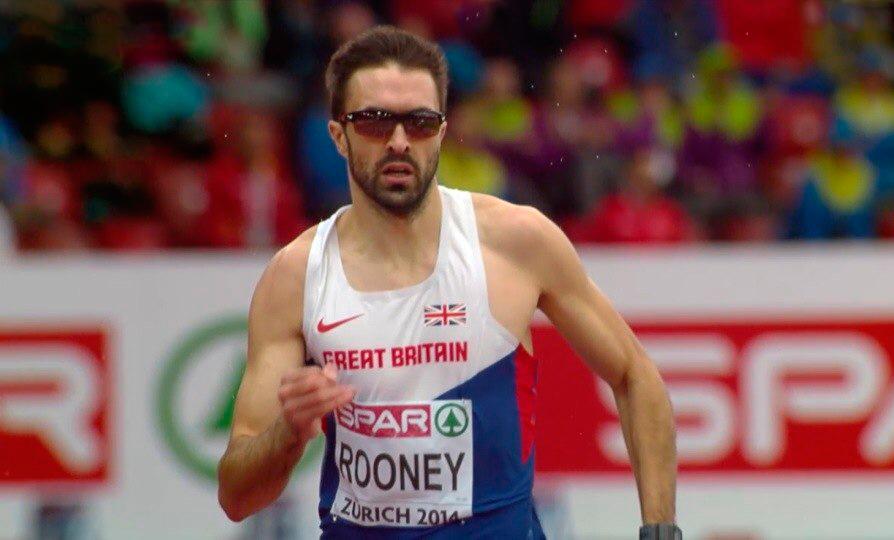 Мартин Руни  - чемпион Европы в беге на 400 м
