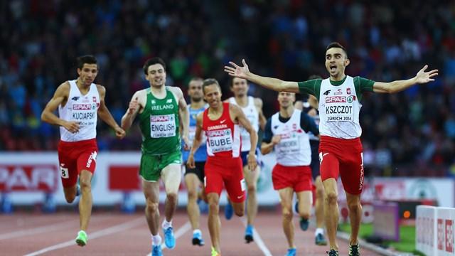 Адам Кщот одержал победу в беге на 800 м на Чемпионате Европы + Видео