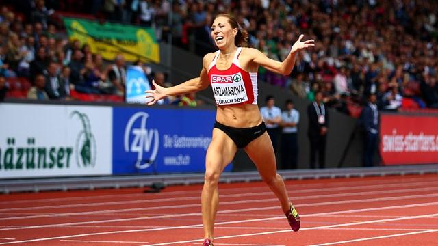 Марина Арзамасова победила в беге на 800 м на чемпионате Европы